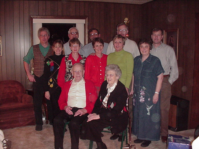 Bernard & LaVerne's children and their spouses - Christmas 2000